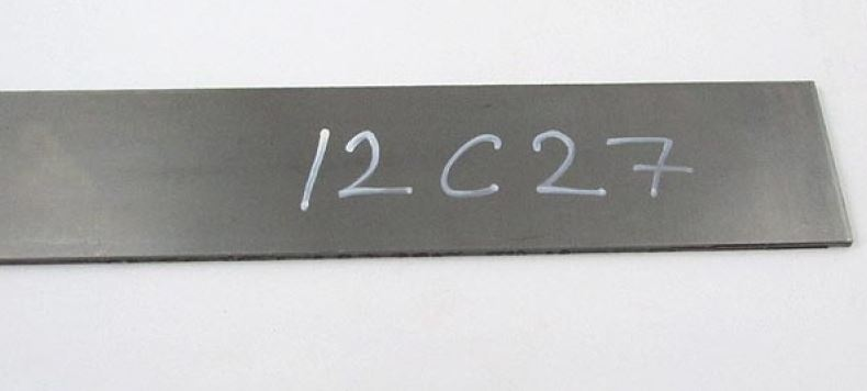 Steel for knifemaking 12C27 2,5x50x250mm