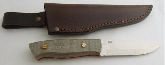 EnZo Trapper kit EnZo Trapper 95 D2 Sc Kit/Green canvas micarta