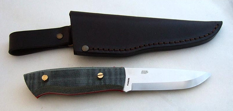 EnZo Trapper kit EnZo Trapper 95 D2 Sc Kit/Black canvas micarta