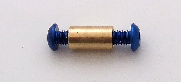 Knife kits Pivot Alu Blue Button 3/16