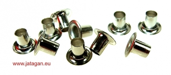 Eyelets 4x6mm - nickel Click to view the picture detail.