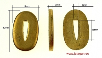 Bolster V 30 large - brass Click to view the picture detail.