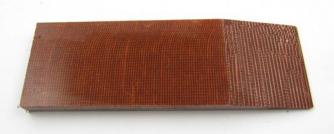 Micarta Brown canvas 8x40x120mm Click to view the picture detail.