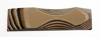 G-10/Brown/beige/black 6,4x40x125mm Click to view the picture detail.