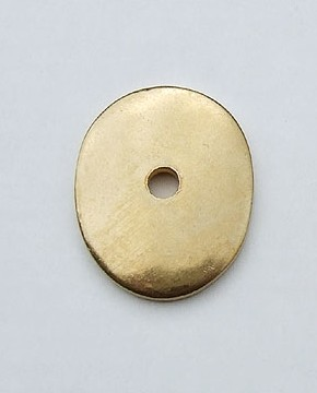 Washer with hole - brass