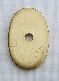 Washer with hole - brass Click to view the picture detail.