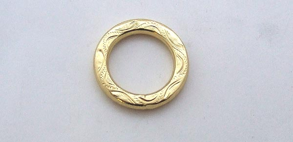 O ring Brass Embossed 19 mm Click to view the picture detail.