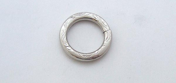 Rings O ring Nickel Embossed 19 mm
