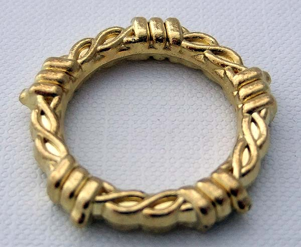 O Rings Brass- 20mm/emboss plated