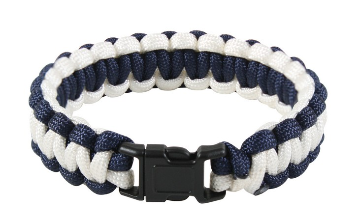 Bracelet Paracord SURVIVAL BLUE/WHITE