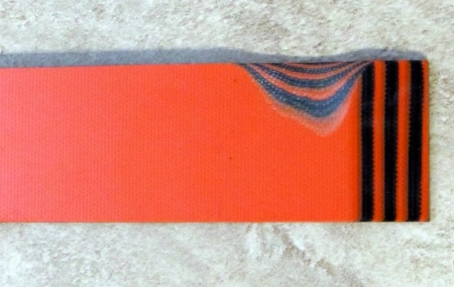 G-10/Hunter Orange-Black 6,4x40x125mm Click to view the picture detail.